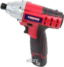 10.8V 1.5Ah Li-Ion Cordless Drill Driver and Impact Driver Kit DURATOOL D03206