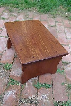 10 tall 11x16 Handcrafted Heavy Duty Wood Step Stool, Bedside Bed Red Mahogany