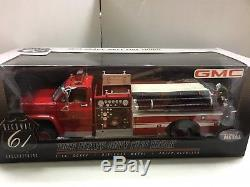 116 Highway 61 Gmc Red/white 1975 Heavy Duty Fire Truck Very Rare