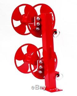 12 Welding Lead Cable Reel Fixed Base Heavy Duty Red