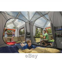 16 x 16 3 Room Cabin Tent Outdoor Camping Festival Canopy 12 Person Shelter Set