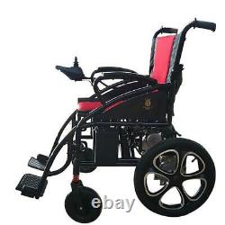2021 New Red FOLD & TRAVEL Premium Foldable Heavy Duty Electric Wheelchairs