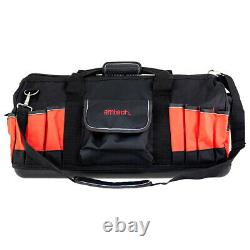24 600mm Heavy Duty Hard Base Tool Storage Carry Duffel Bag Contractor Toolbag