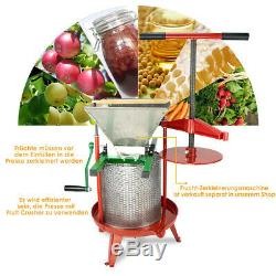 2.38 Gallon Heavy-duty Cross-beam Stainless Steel Fruit and Wine Press