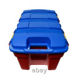 40l Heavy Duty Red & Blue Storage Box Trunk Chest Kids Toys Tools Lego Books