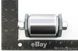 4 Weld On Heavy Duty Steel Micro Mini 2 Roller for Trailers with Grease Fitting