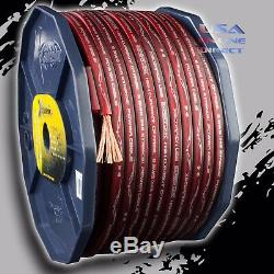 8 Gauge 200 ft Roll RED Power Ground OFC Wire Copper FLAT Marine Cable AWG USA