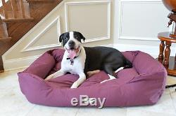 Armarkat XL Dog Pet Bed with Heavy Duty Canvas Waterproof Skid-Free Burgundy 49