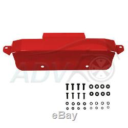 Bash Plate Front Sump Guard fits Toyota Landcruise 75 Series 3mm Red HEAVY DUTY