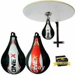 Boxing Speed Ball Heavy Duty Platform MMA Leather Punching Bag Stand Workout