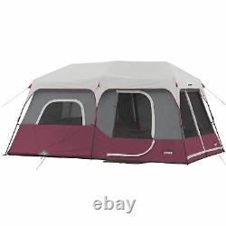 CORE Instant Cabin 14 x 9 Foot 9 Person Cabin Tent with 60 Second Assembly, Red