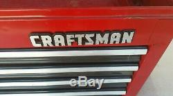 CRAFTSMAN 4 Drawer Heavy Duty Top Box Tool Chest Red 26X15-1/2X12 with keys