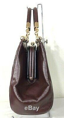 Coach Madison Gathered Twisted Leather Carrie Satchel Shoulder Handbag 27681