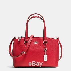 Coach Stanton Carryall 26 Crossgrain Leather 36881 Red Silver NWT $295