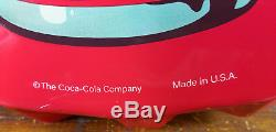 Coca Cola Red White Logo Heavy Duty American Made Bottle Cap Shaped Metal Sign