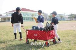 Coleman Outdoor Red 85KG Capacity Folding Carry Wagon Trolley Camping Festival
