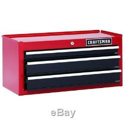 Craftsman 26 3-Drawer Heavy-Duty Middle Chest Red/Black