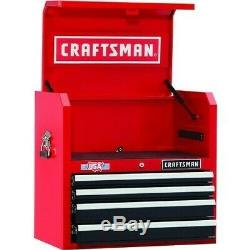 Craftsman 26 4-Drawer Tool Heavy-Duty Top Cabinet Red/ Black Power Strip USB
