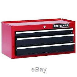 Craftsman 26 in. 3-Drawer Heavy-Duty Ball Bearing Middle Chest Red/Black