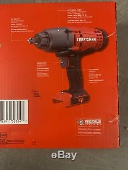 Craftsman CMCF900B 1/2 20V Cordless Impact Wrench. With 4.0ah V20 Battery+Charger