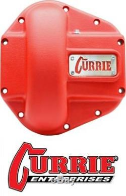 Currie Heavy Duty Iron Differential Cover Texture Red fits Jeep Dana 60 Axle