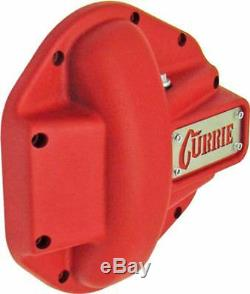 Currie Heavy Duty Iron Front Differential Cover Textured Red fits Jeep Dana 44