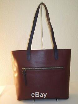 Dooney & Bourke Cranberry Coated Leather Hadley Tote Bag $268