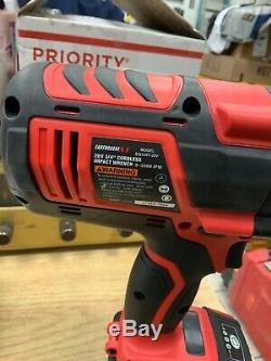 Earthquake XT 3/4 Cordless Impact Wrench Kit with 20V 4.0ah Battery NEWithOPEN Box