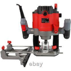 Excel 1800W 1/2 Electric Plunge Router Heavy Duty with Variable Speed