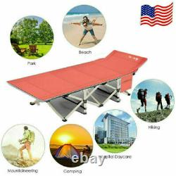 Folding Camping Cot Heavy-duty Bed with Mattress & Carry Bag for Travel Vocation