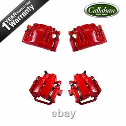 Front + Rear Red Coated Brake Calipers For 06 -11 Dodge Charger Magnum Police