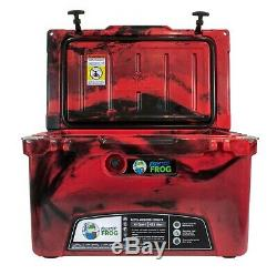 Frosted Frog Red Camo 45 Quart Ice Chest Heavy Duty Molded Insulated Cooler