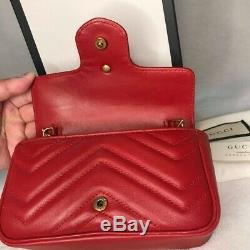 GUCCI GG MARMONT Small Matelasse Shoulder Bag Free Fast DHL Delivery