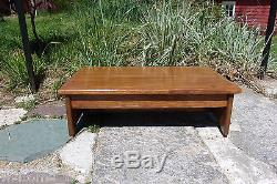 Handcrafted Heavy Duty Wooden Bedside Step Stool 7 Tall 14 X 24 Red Mahogany