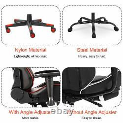 Heavy Duty Office Gaming Chair Ergonomic Racing Computer Desk Leather Recliner
