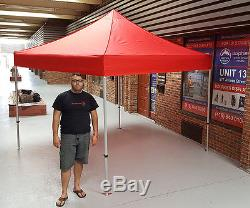 Heavy Duty Outdoor 1010' EZ Pop Up Canopy Instant Tent Commercial Grade (RED)