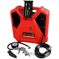 Heavy Duty Portable Air Compressor, Tyre Inflation Gauge 230V 1100W CT4620