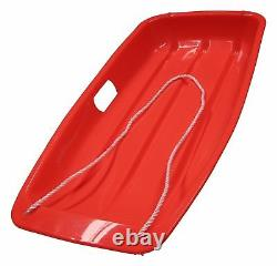 Heavy Duty Snow Sledge Sledges With Rope Plastic For Kids & Adults Ski Board Fun