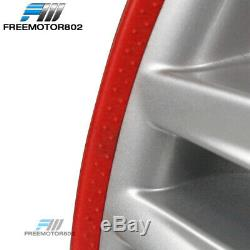 Heavy Duty Wheel Guard Rim Protecting Trim Ring 18inch Red