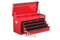 Hilka 6 Drawer Tool Chest Heavy Duty Red Storage Ball Bearing Top Box Cabinet