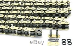 Honda CRF450 CR250 Chain & Sprocket Combo Kit Gold Heavy Duty O-Ring Red 13T/50T