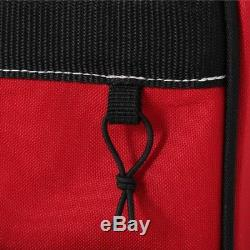Husky Tool Bag Rolling Tote Storage Organizer Pocket Heavy Duty Compartment Red