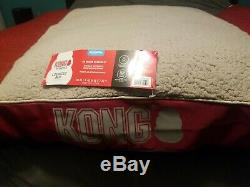 KONG Chew Resistant Heavy Duty Dog/Cat Pillow Bed RED- NEW WITH TAGS! Large