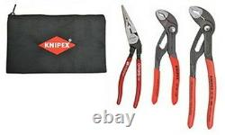 Knipex 9K0080123US Cobra Pliers & Angled Long Nose 3pc Set withPouch