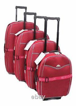 Lightweight Set Of 4 Suitcases Wheeled Suitcase Trolley Case Travel Luggage Bag