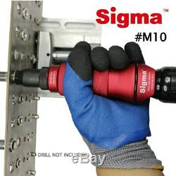 M10 HEAVY DUTY Threaded Rivet Nut Drill Adapter Cordless or Electric