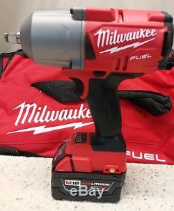 MILWAUKEE2767-22M18 FUELHighTorque 1/2 Impact Wrench 1400 FT/LBS With5.0AhNew