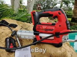 MILWAUKEE 2646-20 M18 Cordless 2 Speed 18V Grease Gun Bare Tool With 2.0 Battery