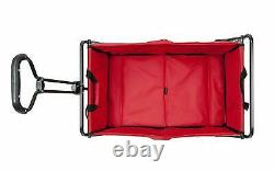 Mac Sports Collapsible Folding Steel Frame Outdoor Garden Camping Wagon, Red