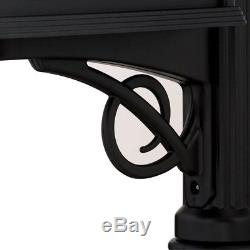 Mailbox Post Combination Heavy Duty Rust Resistant Double Walled Plastic Black